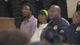 Officer Attends Vigil for Man Shot by LAPD