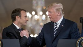 Trump, Macron Talk Nuclear Programs in Iran, North Korea