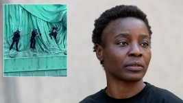 Statue of Liberty Climber Convicted in July 4 Protest<br />