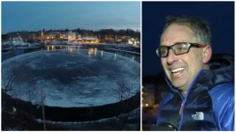 'I'm the Hero': Man Gets Maine's Ice Disk Spinning Again