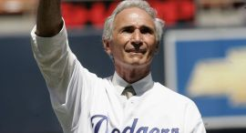 Hall of Fame Pitcher Sandy Koufax Back in Dodger Blue