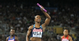 SoCal Sprinter Carmelita Jeter in Action