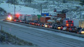 Grapevine Closed Amid Storm; Crashes Cleared