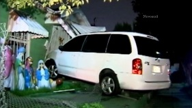 Minivan Driver Crashes Into House After Hit-and-Run