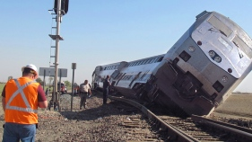 "Big Rig ""Drove Into"" Amtrak Train Near Fresno"