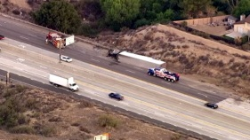 Big Rig Crash Blocks 14 Freeway in Canyon Country