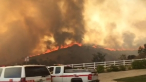 Photos of the Mart Fire Near Highland