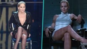 Sharon Stone Stuns While Recreating 'Basic Instinct' Scene