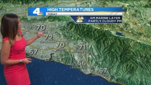 A widespread marine layer this morning will clear in the afternoon. Shanna Mendiola has the forecast on Sunday, May 29, 2016.