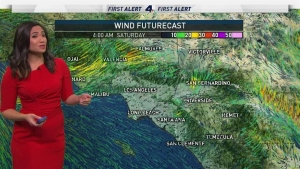 <p>A freeze watch is in effect in the Antelope Valley meaning the first watch of the season has arrived. Scattered showers may drizzle over some areas of Southern California as a cold front from Northern California travels south. Shanna Mendiola has your First Alert Forecast for Friday, Nov. 17, 2017.</p>