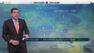 <p>Strong winds continue to dominate and pose an increased fire danger. David Biggar has your First Alert Forecast on Sunday, Dec. 10, 2017.</p>