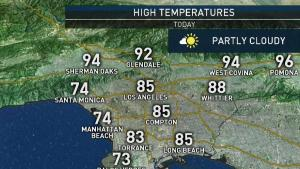 <p>Temperatures climb every day though midweek, and stay hot inland through the weekend. Shanna Mendiola has your First Alert forecast for Monday, July 22, 2019.</p>