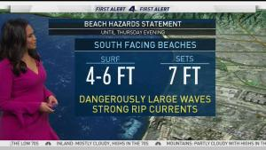 <p>The low pressure system that brought SoCal a light drizzle yesterday is heading east, but another is expected to replace it. Shanna Mendiola has your First Alert Forecast on Wednesday, May 23, 2018.</p>