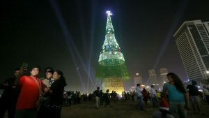 Sri Lanka Claims the World's Tallest Artificial Christmas Tree