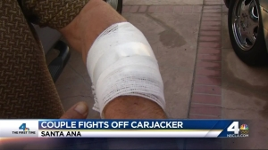 Caught on Camera: Couple Fights Off Woman With Knife