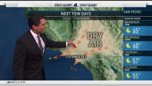 <p>Dangerous winds will continue now through Friday, with an onshore flow on Saturday bringing in higher humidity and lower temperatures. Anthony Yanez has your First Alert Forecast for Wednesday, Dec. 13, 2017.</p>