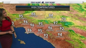 <p>Temperatures in the 90s are popping up in valley and inland areas. Shanna Mendiola has the forecast for Tuesday Oct. 22, 2019. </p>