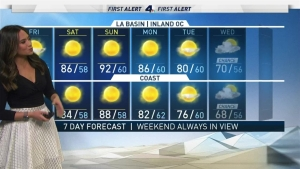 <p>After a warm weekend, there's a chance of rain. Shanna Mendiola has the forecast for Friday Nov. 15, 2019. </p>