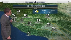 <p>Temperatures will be similar to yesterday's forecast, meaning we're in for another warm Friday. David Biggar has your First Alert Forecast on Friday, July 28, 2017.</p>