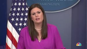 Sanders Vs. Reporters Over Latest Fake News Tirade