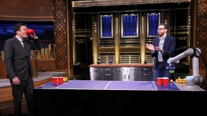 Fallon vs. Beer Pong-Playing Robot