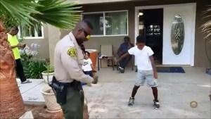 Watch: Boy Challenges LA Sheriff's Deputy to Dance-Off