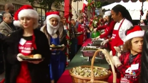 Los Angeles Mission Serves Christmas Meals to Homeless