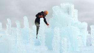 An Ice Castle Wonderland Takes Shape in Colorado