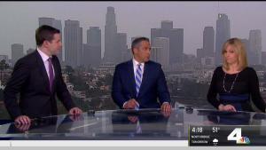 <p>Heavy rainfall hit LA Tuesday. David Biggar has your First Alert Forecast on NBC4 News at 4 p.m. on Jan. 15, 2019.</p>