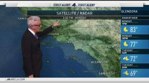 <p>It's hot in Southern California. Fritz Coleman has the forecast for the NBC4 News on Monday, Oct. 16, 2017.</p>
