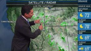 <p>Temperatures will be seasonal Sunday, but storms and humidity will come back on Monday. Anthony Yanez delivers the First Alert Forecast for the NBC4 News at 6 p.m. on Saturday, July 22, 2017.</p>