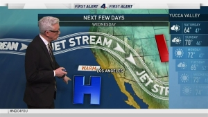 <p>Saturday's weather will be partly cloudy and cool with a slight chance of rain in the morning. Fritz Coleman has the forecast for the NBC4 News for Friday, March 24, 2017.</p>