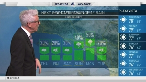It will continue to be hot in Southern California. Fritz Coleman has the forecast for the NBC4 News at 5 p.m. on Wednesday, July 27, 2016.