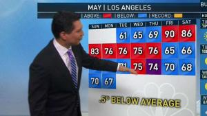 <p>The area of low pressure that has brought the constant clouds and cool lifts north Wednesday. Anthony Yanez has your First Alert forecast for Tuesday, May 22, 2018.</p>