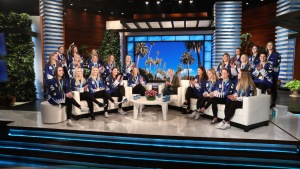 Ellen Surprises US Women's Hockey Team With Special Honor