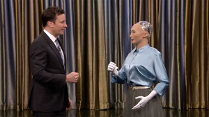 Fallon Plays 'Rock, Paper, Scissors' With Sophia the Robot