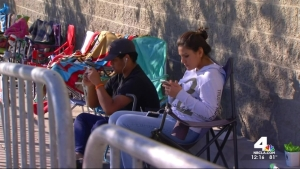 Southern Californians Begin Camping Out for Black Friday
