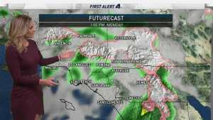 Snow and heavy downpours are possible in some areas following a record-setting weekend soaker. Crystal Egger has your First Alert Forecast for Monday Jan. 23, 2017.