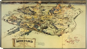 'Rare' Disneyland Hand-Drawn Map at Auction
