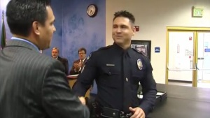 Officer Who Carried Dorner Victims Gets Mayor's Award