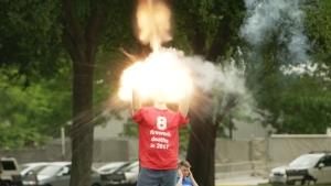Officials Show the Dangers of Fireworks