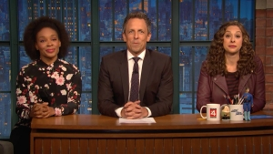 'Late Night': Jokes Seth Can't Tell About Holidays, Midterms