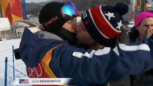 Kenworthy Gets Well Overdue Kiss From Boyfriend at Olympics
