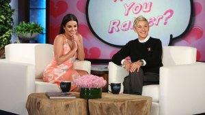 Ellen Plays Celebrity Matchmaker for Lea Michele