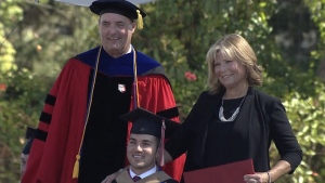 Woman Awarded Degree for Helping Quadriplegic Son