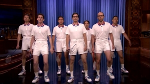 'Tonight Show': The US Badminton Team Does the 'Badminton Boogie'