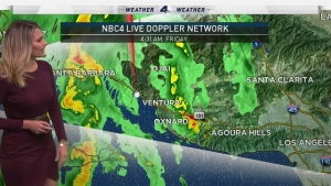 There will be moderate to heavy rain during the early drive, mainly in Ventura and LA counties. The storm will weaken as it moves eastward. Crystal Egger has the forecast on Friday, Oct. 28, 2016.