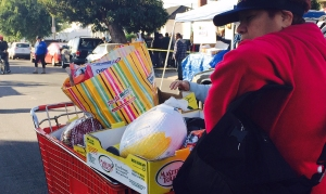 Thousands Line Up at Annual Turkey Giveaway