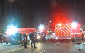 Police Pursuit Ends With Violent Crash in Van Nuys