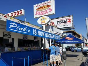 Pink's Hot Dog Stand Goes Blue for Dodgers' World Series Bid